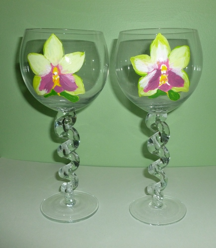 2 (only) Roseaesia Orchid Wines with Curly stems $90