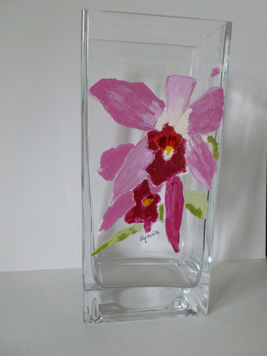 Catalaeya Pink Orchid Vase $175