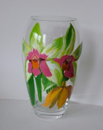 large double Orchid vase $175.