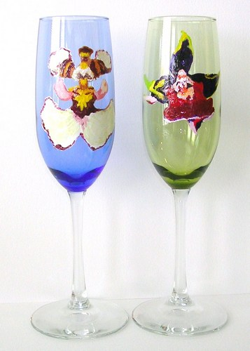 2 colored flutes (Blood & Oncidium Orchid) $90