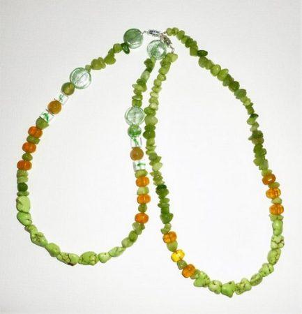 "childrens turquoise & yellow jade 20"" ea. $89 ea."