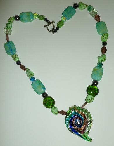 chrysoprase, hematite,howlite, copper healing necklace