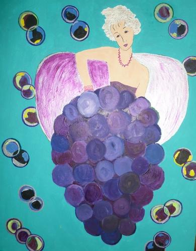 """Bubble Queen. acrylic, 20""""x16"""" $600"""