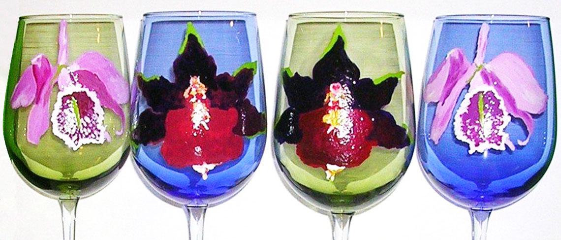 Handpainted Glassware