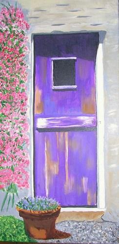 """Purple Door, acrylic, 24""""x12"""" $750"""