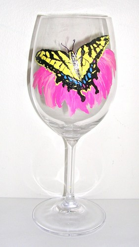 Swallowtail butterfly goblet $35