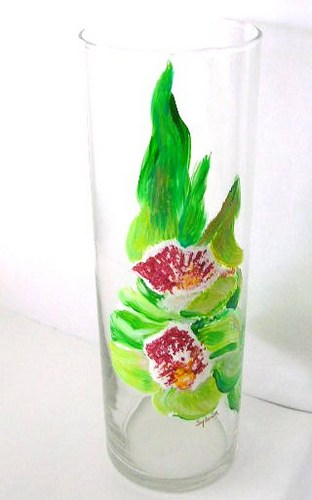 Cymbidium tall vase $135
