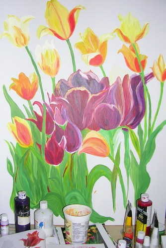 adding the large tulips