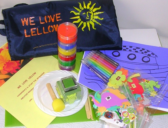 We Love Lellow art kits for kids