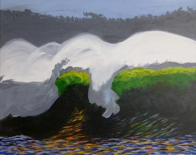 """The Wave, acrylic on canvas, 16""""x20"""" $600"""