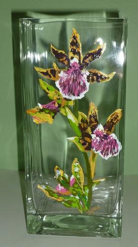 Zygopetalum Orchid Vase - $175