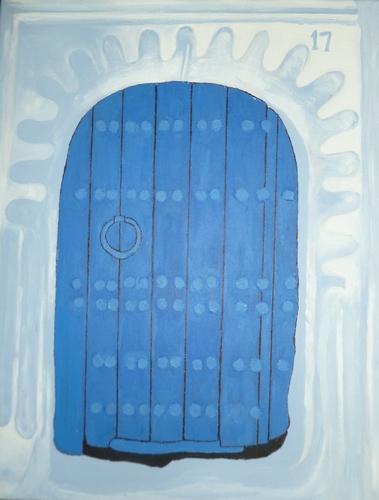 """Mediterranean Door, acrylic, 20""""x16"""" $600"""