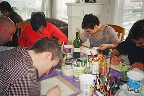 first 30th birthday painting party at the Vancouver studio