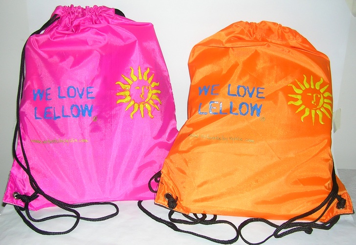 We Love Lellow bags complete with all art making gear for tots