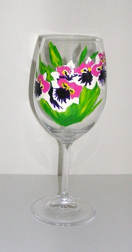 Miltoniopsis Orchid goblet $35