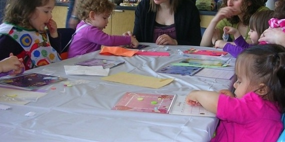 Molly's paint & play birthday party in Vancouver