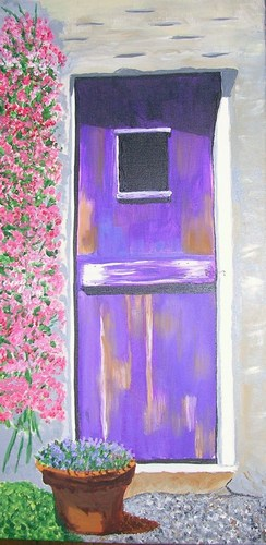 "Purple Door, acrylic, 24""x12"" $750"