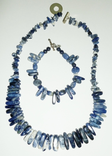 Sodalite only necklace & bracelet