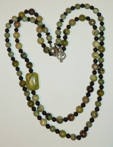 2 strands Yellow Turquoise beads & nugget healing necklace